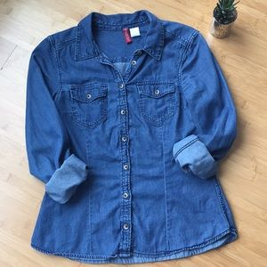 EUC denim button up shirt by Divided H&M